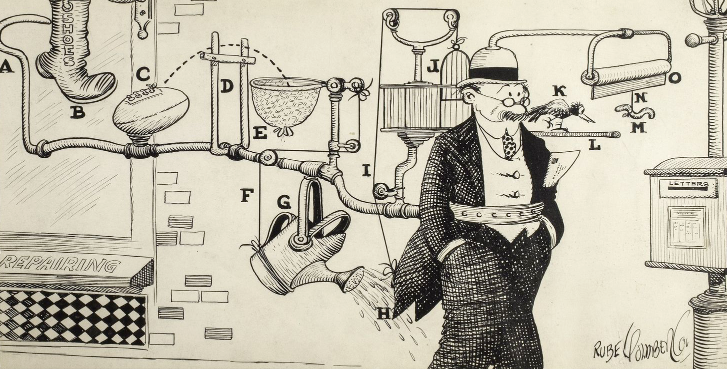 Rube Goldberg illustration